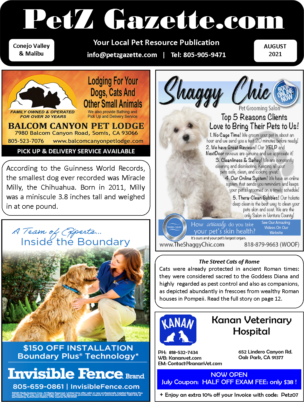 Conejo Valley & Malibu | AUGUST 2021